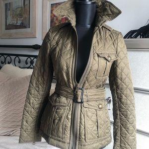 Olive Burberry Brit jacket